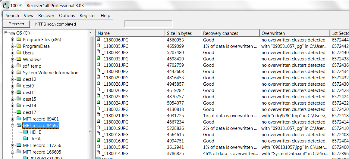 Screenshot af Recover4all