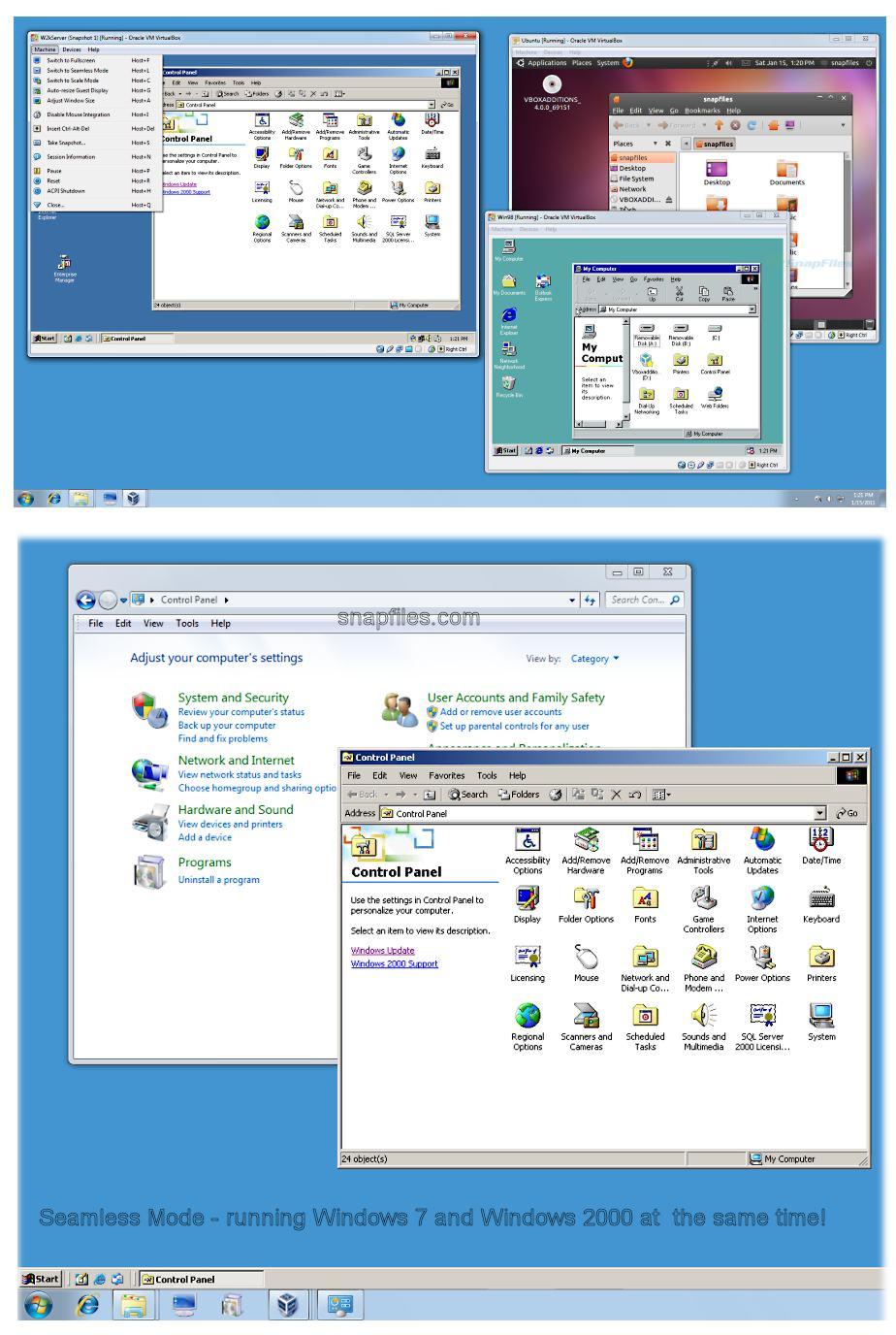 Screenshot af VirtualBox