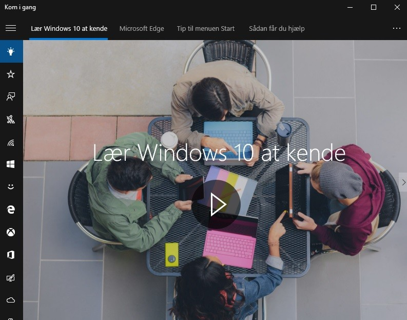 Screenshot af Windows 10 Home