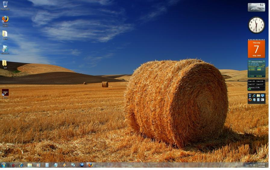 Screenshot af Windows 7 Home
