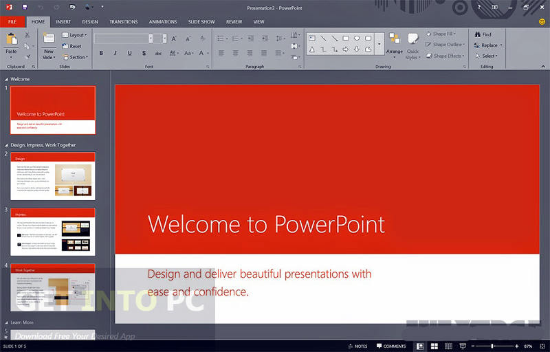 Screenshot af Microsoft Office Professional