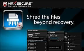 Screenshot af Max File Shredder