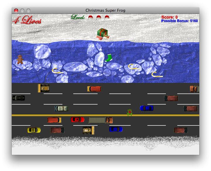 Screenshot af Christmas Super Frog