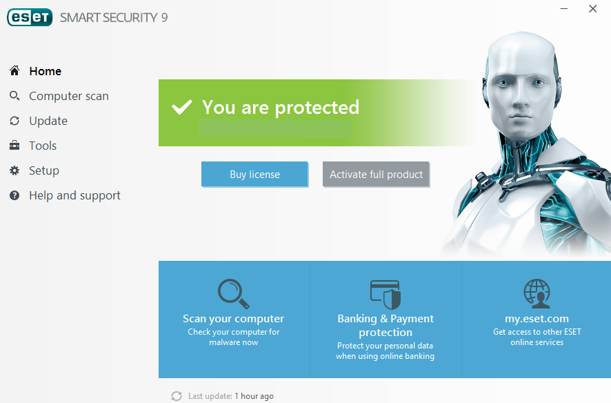 Screenshot af ESET Smart Security