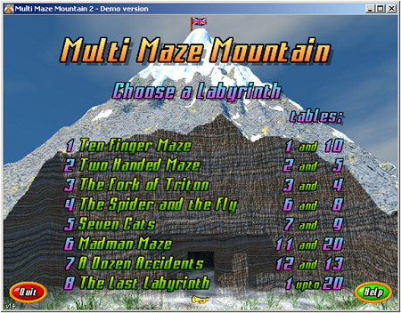Screenshot af Multi Maze Mountain