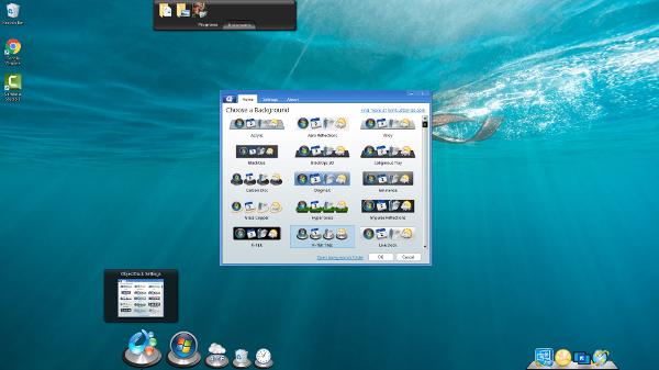Screenshot af ObjectDock