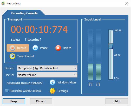 Screenshot af Cool Record Edit Pro