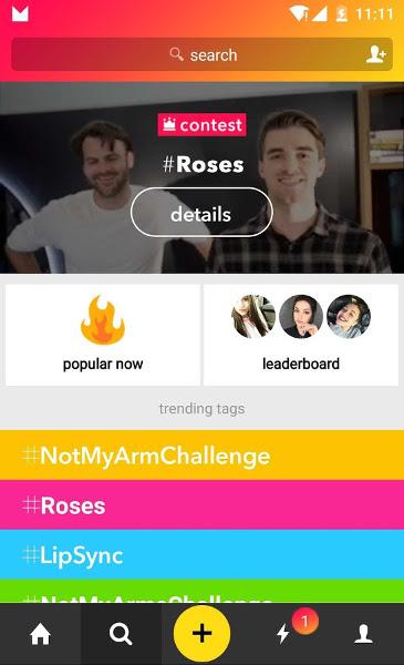 Screenshot af Musical.ly