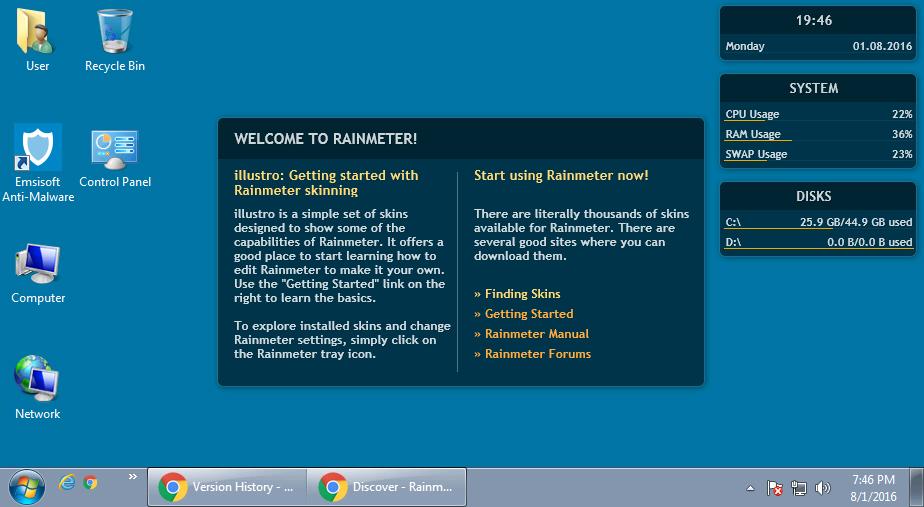 Screenshot af Rainmeter (64 bit)