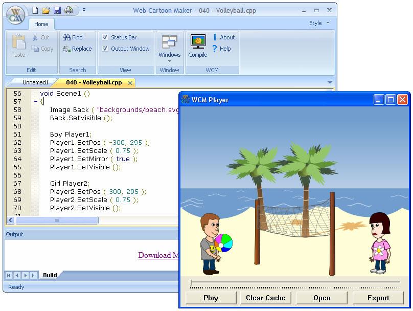 Screenshot af Web Cartoon Maker