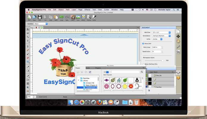 Screenshot af EasySignCut Pro