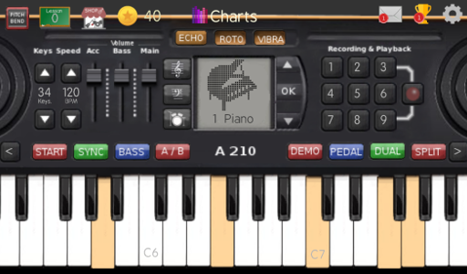 Screenshot af Music Keyboard