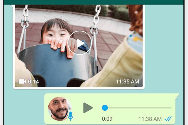 Screenshot af WhatsApp