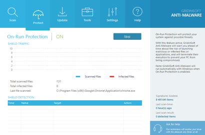 Screenshot af GridinSoft Anti-Malware