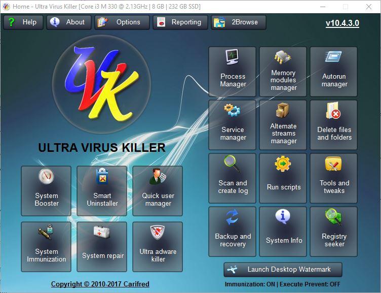 Screenshot af Ultra Virus Killer