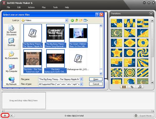 Screenshot af ImTOO Movie Maker til Mac