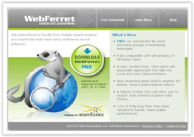 Screenshot af WebFerret