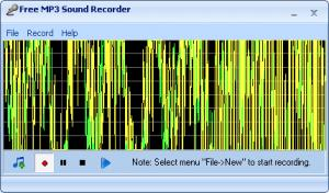 Screenshot af Free MP3 Sound Recorder