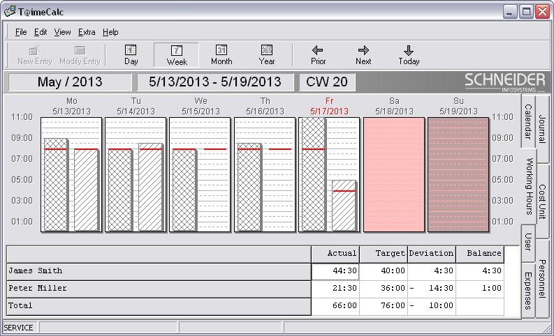 Screenshot af T@imeCalc