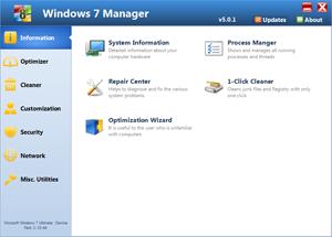 Screenshot af Windows 7 Manager