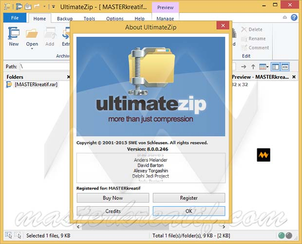 Screenshot af UltimateZip