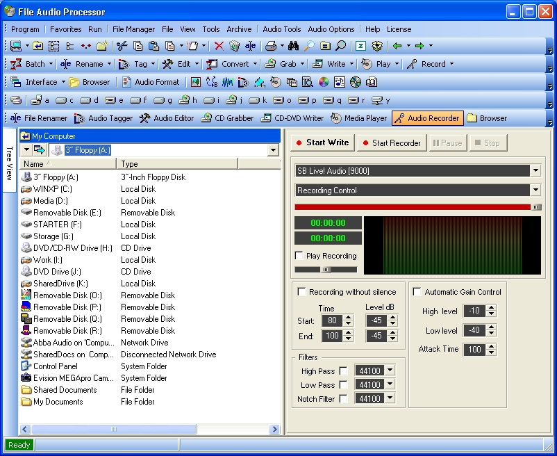 Screenshot af File Audio Processor