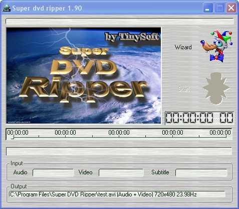 Screenshot af Super DVD Ripper