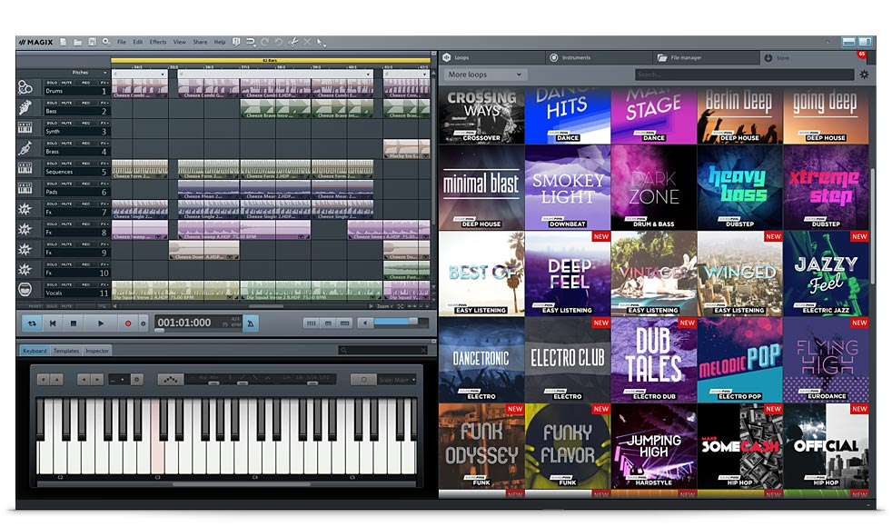Screenshot af Magix Music Maker
