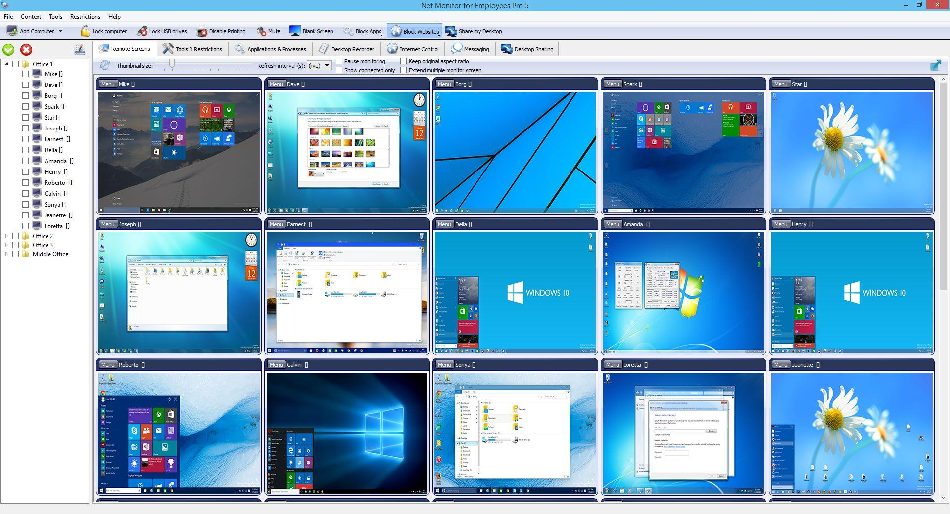 Screenshot af Net Monitor For Employees