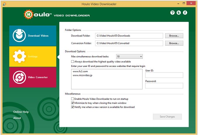 Screenshot af Houlo Video Downloader