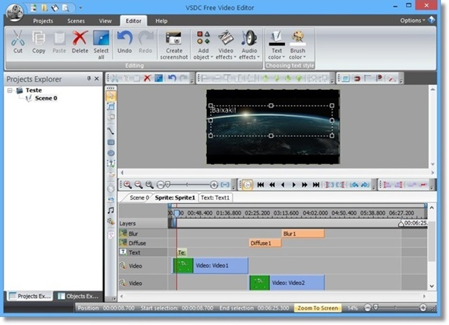 Screenshot af VSDC Free Video Editor