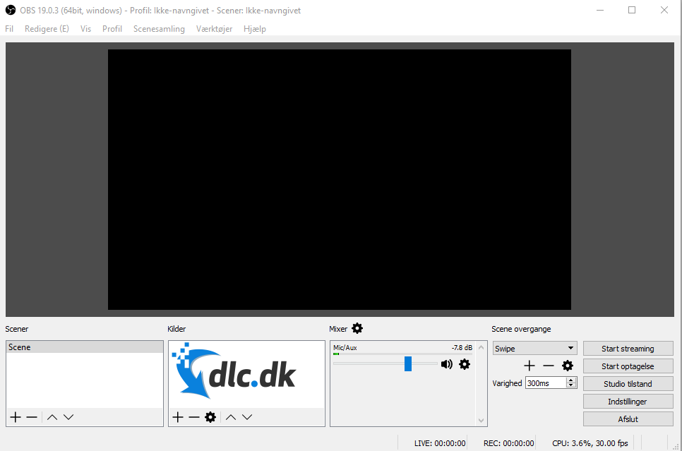 Screenshot af Open Broadcaster Software