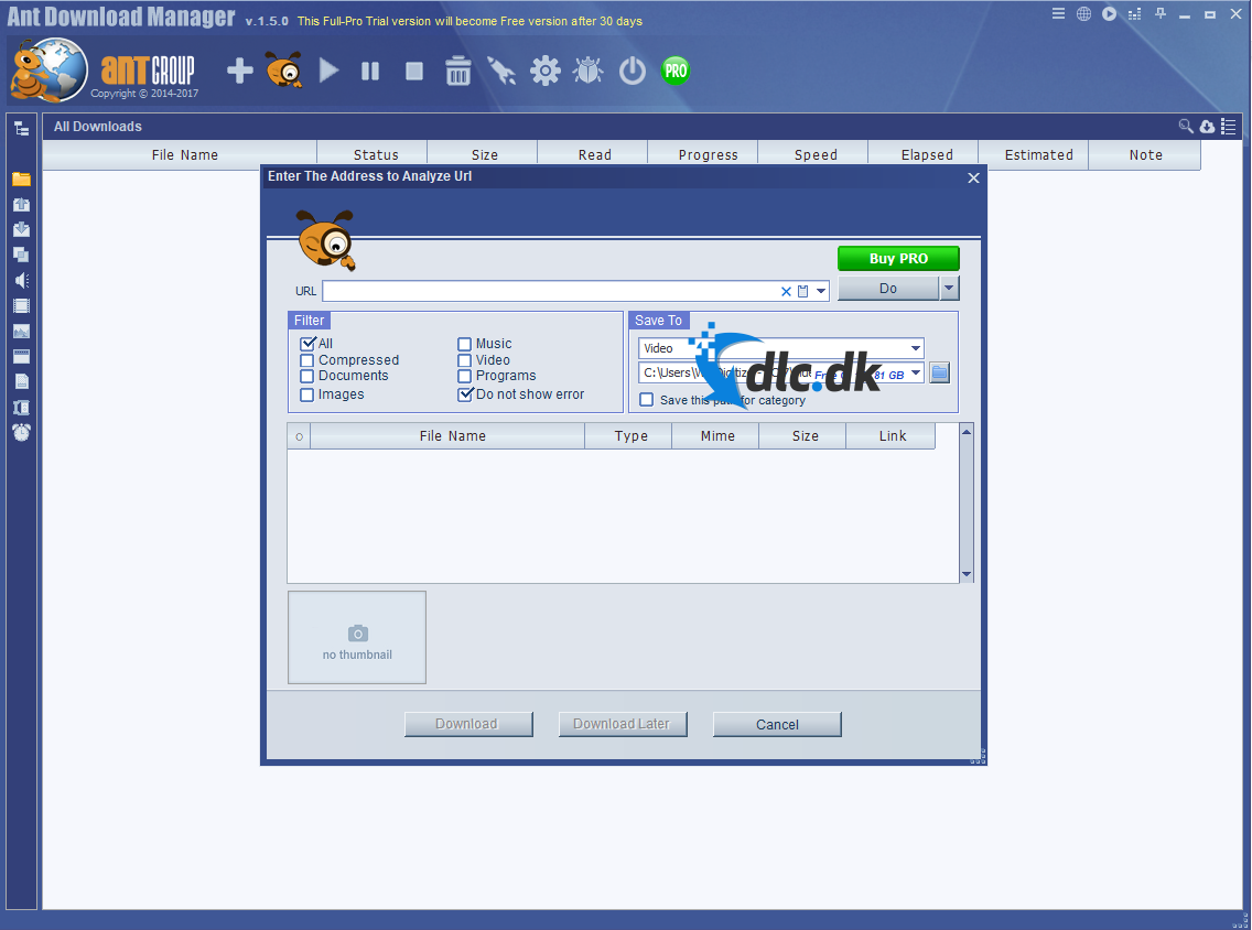 Screenshot af Ant Download Manager
