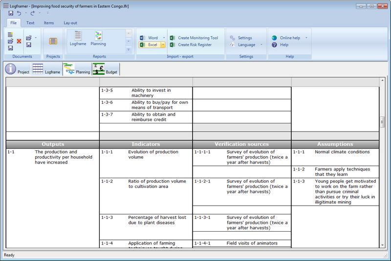 Screenshot af Logframer
