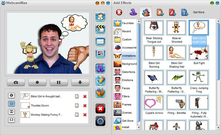 Screenshot af WebcamMax