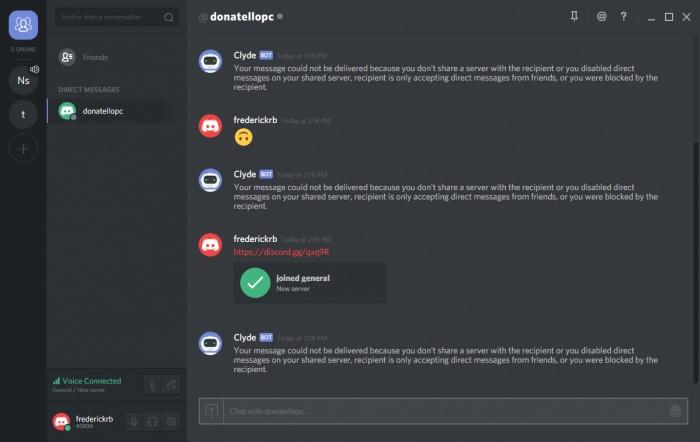 Screenshot af Discord