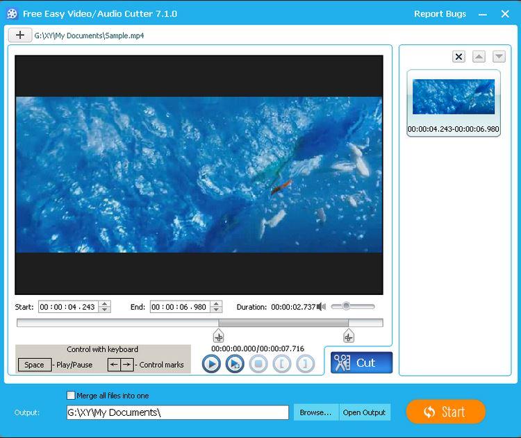 Screenshot af Free Video Editor