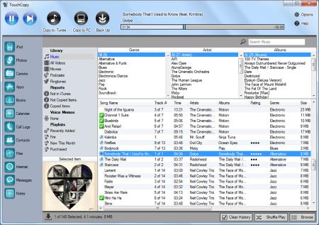 Screenshot af TouchCopy