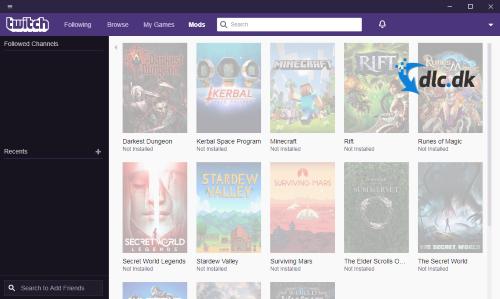 Screenshot af Twitch Desktop App