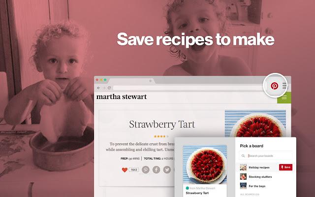 Screenshot af Pinterest-knappen Gem