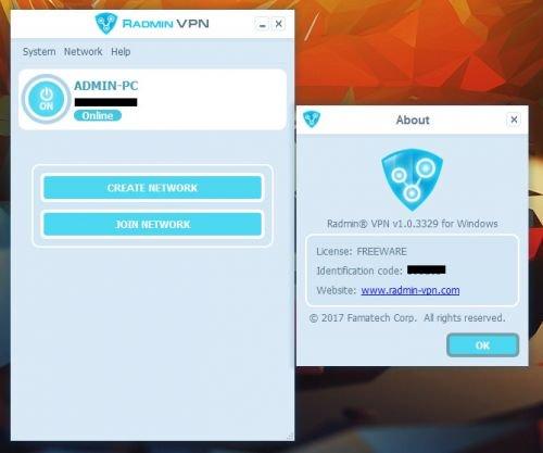 Screenshot af Radmin VPN