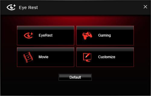Screenshot af MSI Gaming App