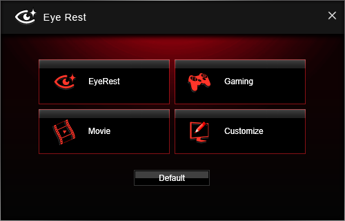 Screenshot af MSI Gaming App