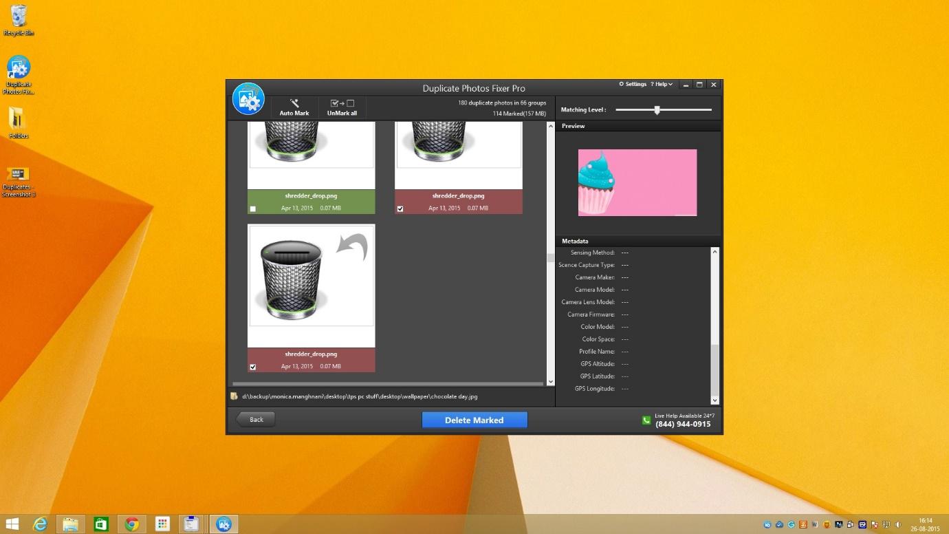 Screenshot af Duplicate Photos Fixer