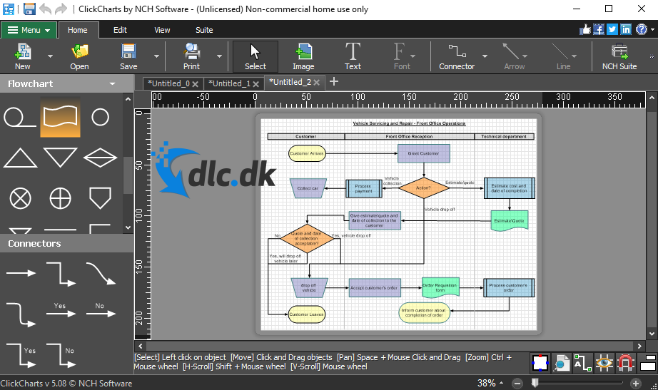 Screenshot af ClickCharts Diagram & Flowchart Software