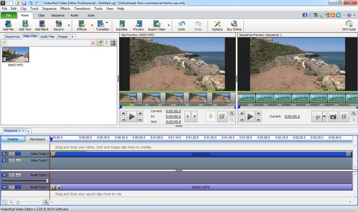 Screenshot af VideoPad Video Editor
