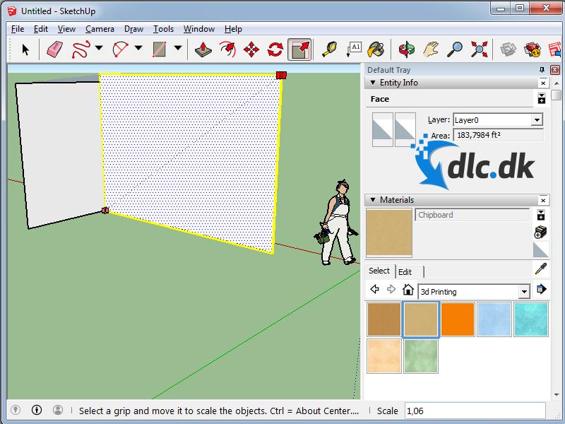 Screenshot af SketchUp Pro