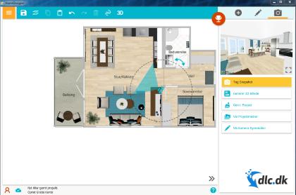 Screenshot af RoomSketcher Home Designer (Dansk)