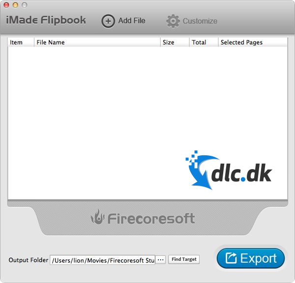 Screenshot af iMade Flipbook (Mac)