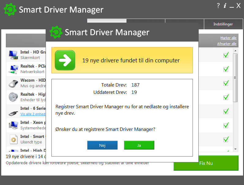 Screenshot af Smart Driver Updater